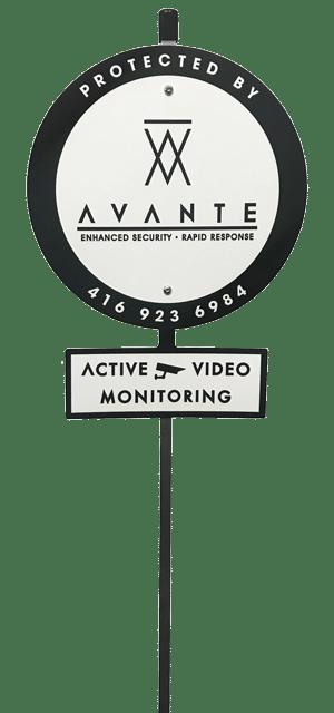 Avante Security lawn sign