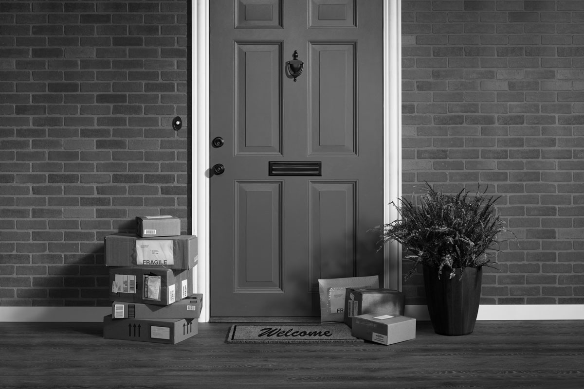 Package in front of door