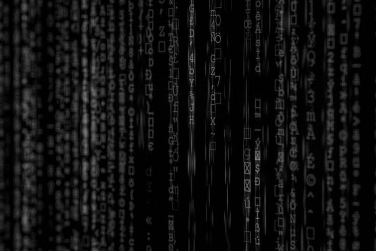 Matrix screen on a computer